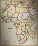 Africa Antique Style Map