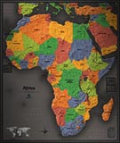 Africa Cool Colors Map