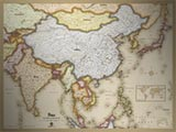Asia Antique Style Map