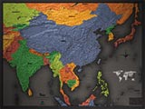 Asia Cool Colors Map