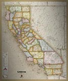 California Antique Style Map