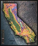 California Detailed Physical Map