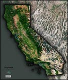 California Satellite Image Map