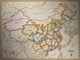 China Antique Style Map