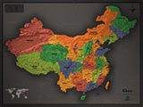 China Cool Colors Map