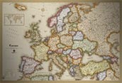 Europe Antique Style Map