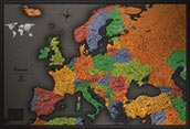 Europe Cool Colors Map