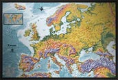 Europe Detailed Physical Map