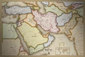 Middle East Antique Style Map