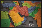 Middle East Cool Colors Map