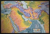 Middle East Detailed Physical Map