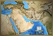 Middle East Satellite Image Map