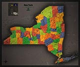 New York Cool Colors Map