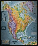 North America Detailed Physical Map