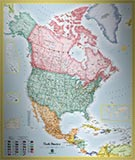 North America Standard Political Map