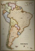 South America Antique Style Map