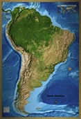 South America Satellite Image Map