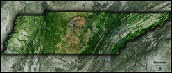 Tennessee Satellite Image Map