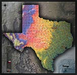 Texas Detailed Physical Map