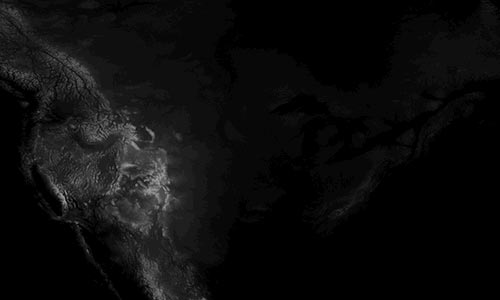 Grayscale DEM Digital Elevation Model of Contiguous United States