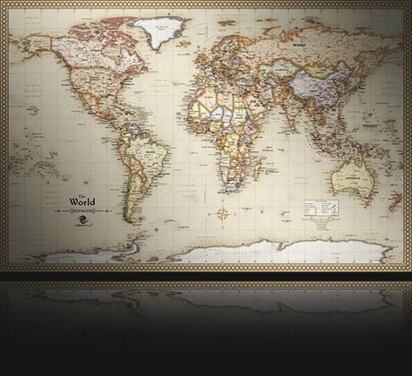 Outlook maps the most beautiful wall maps in the world antique world map for office gumiabroncs Image collections