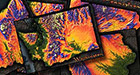 Collection of Colorful Topographic Maps