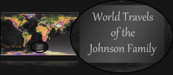 Sample Personalized Map Title - World Travels of the Johnson Family