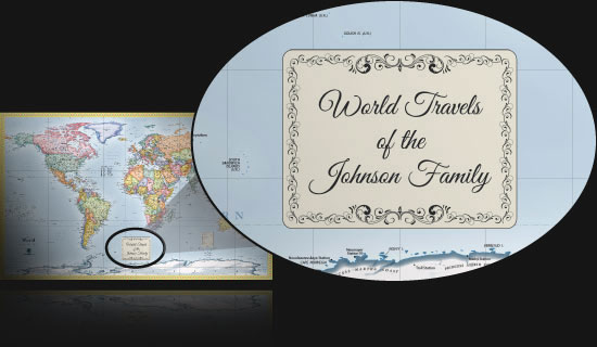 Personalized Maps | Great for Customized Family Maps and Gifts
