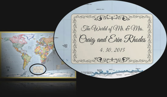 Personalized Maps   Great for Customized Family Maps and Gifts