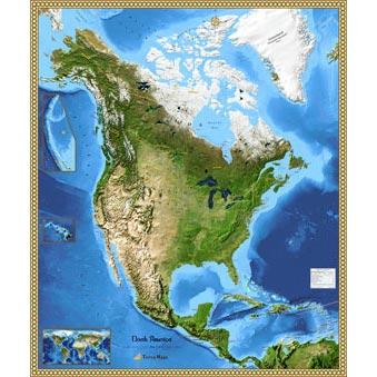 North America Maps Beautiful Wall Maps Of North America