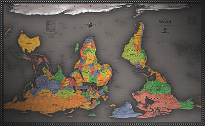 Upside down maps south up reversed maps for a fresh perspective political upside down world map with flags gumiabroncs Images