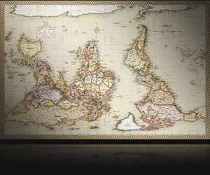Upside down maps south up reversed maps for a fresh perspective upside down world map in antique map style gumiabroncs Images
