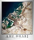 Aerial Image Satellite Map of Abu Dhabi Poster