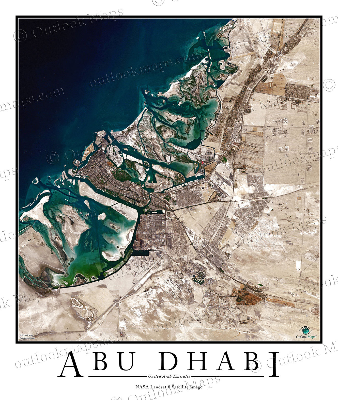 Abu Dhabi Satellite Map