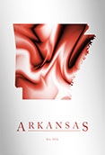 Artistic Poster of Arkansas Map
