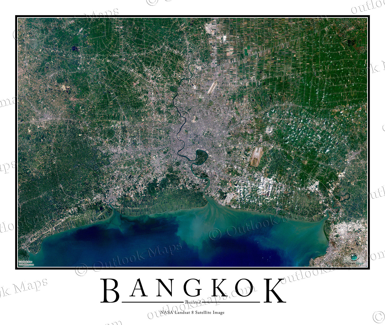 framed world map for wall with Bangkok Satellite Map on Classic Premier 3d World Wall Map Poster Mural as well Landscape Poster Mockup together with San Francisco Downtown Map moreover Eugene Downtown Map additionally Castle Rock Enhanced Lake Wall Map.