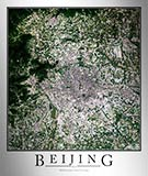 Aerial Image Satellite Map of Beijing Poster