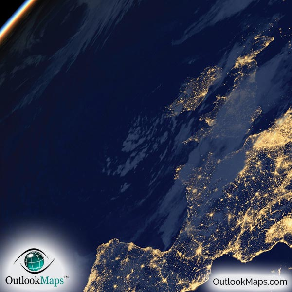 Earth at night poster black marble nighttime satellite images earth at night poster detail gumiabroncs Gallery