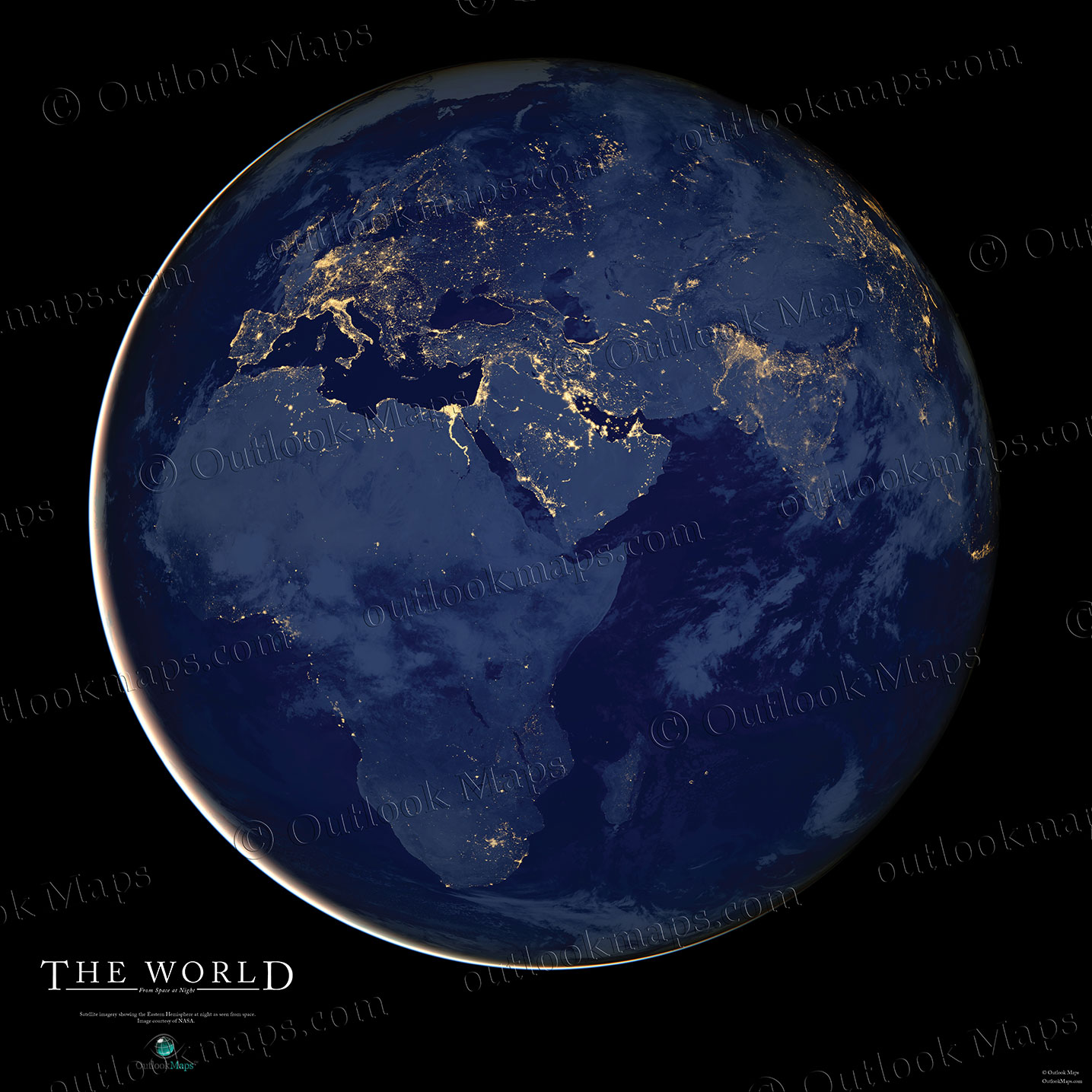 World Map Collection Map Of The World In Many Beautiful Styles - Map of the world from space at night