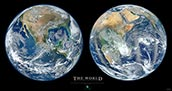 Blue Marble Poster Two Halves