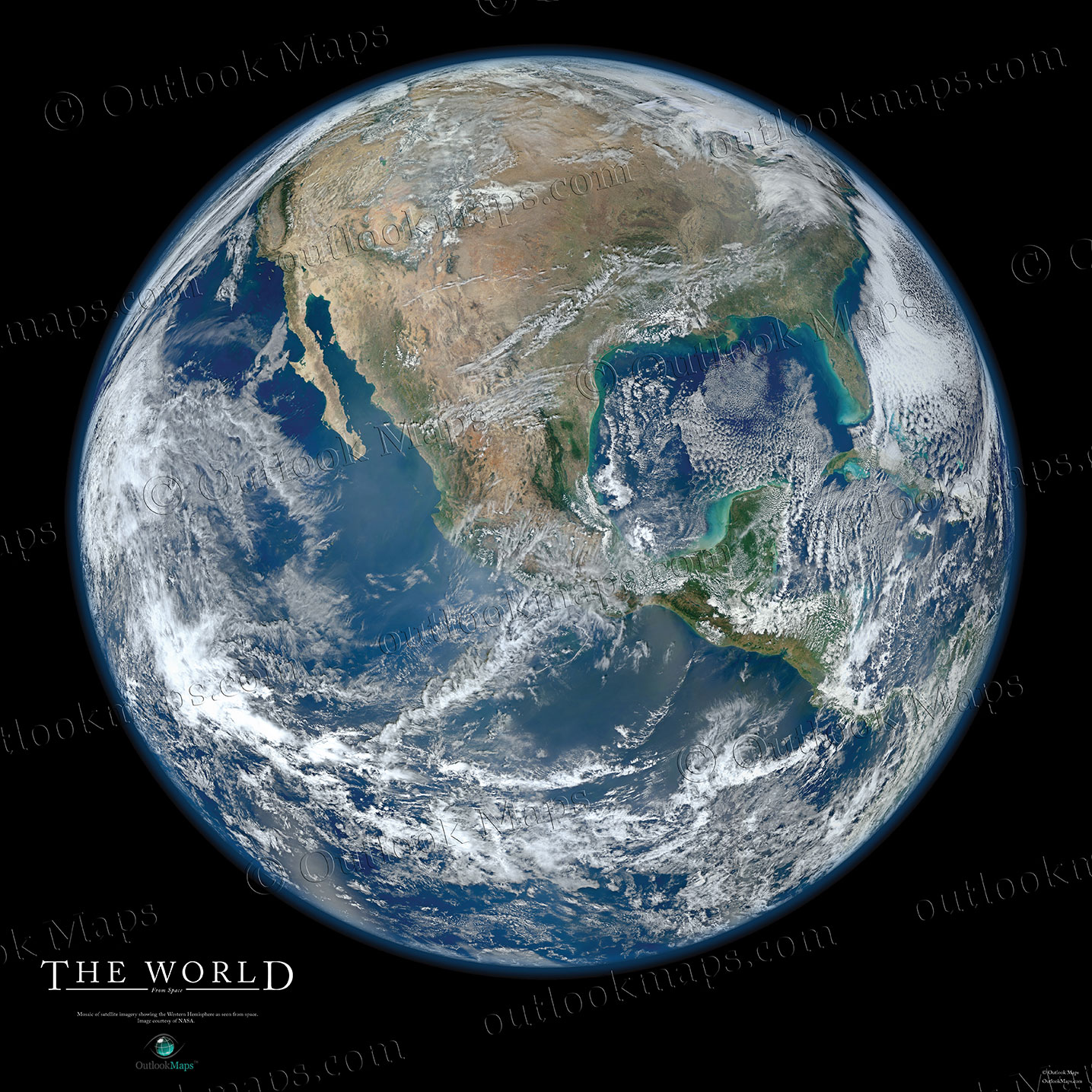 Marble Poster Of Planet Earth - Satellite world map poster