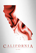 Artistic Poster of California Map