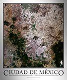 Aerial Image Satellite Map of Ciudad de Mexico Poster