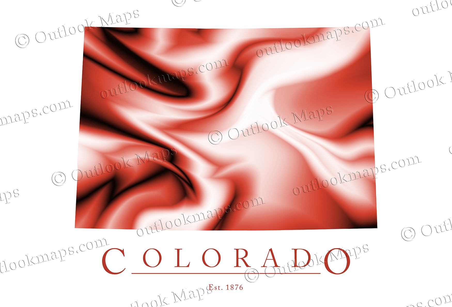 Colorado Map Art.Colorado Map Art Stylish Poster