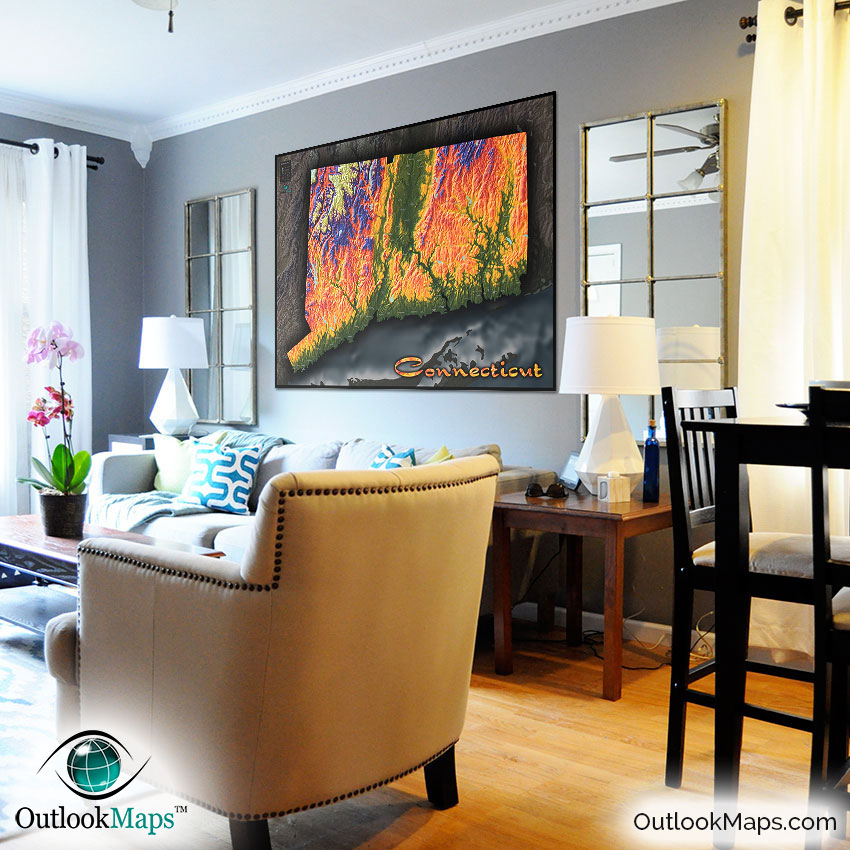 12 Cool Kentucky Derby Inspired Home Decor Ideas: Colorful Topography Of Physical Features