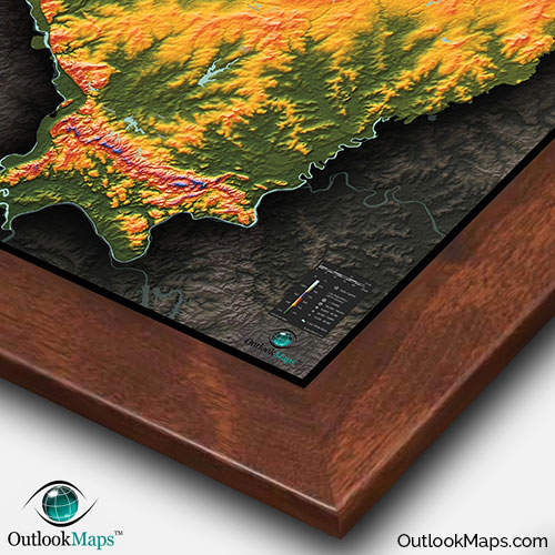 Wood Elevation Maps : Map of illinois natural features cool d topography
