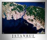 Aerial Image Satellite Map of Istanbul Poster