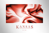 Artistic Poster of Kansas Map