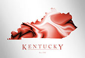 Artistic Poster of Kentucky Map