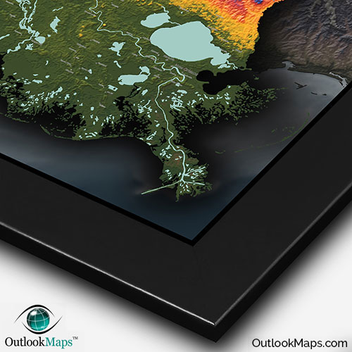 Louisiana Physical Map  Colorful 3D Terrain Amp Topography